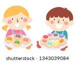 illustration of kids wearing...   Shutterstock .eps vector #1343039084