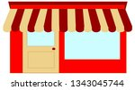 houses and shops for a village...   Shutterstock . vector #1343045744