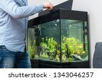 Man Feeding Fishes In The...