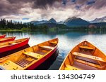mountain lake in national park... | Shutterstock . vector #134304749