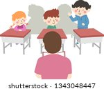 illustration of student kids in ... | Shutterstock .eps vector #1343048447