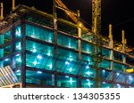 Construction At Night With...
