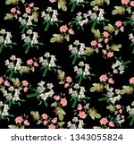 drawing flower line elegance...   Shutterstock . vector #1343055824