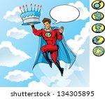 super birthday   Shutterstock . vector #134305895