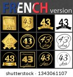 set of number forty three years ... | Shutterstock .eps vector #1343061107