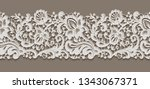 vintage lace ribbon with floral ... | Shutterstock .eps vector #1343067371