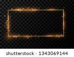 golden frame with lights... | Shutterstock .eps vector #1343069144