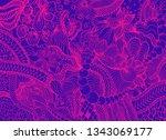hand drawn doodle backdrop... | Shutterstock .eps vector #1343069177