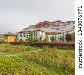 china tibet potala palace   Shutterstock . vector #1343076971