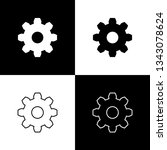 set gear icons isolated on... | Shutterstock .eps vector #1343078624