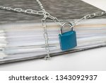 files locked with chain and...   Shutterstock . vector #1343092937