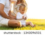 happy family on tropical island ...   Shutterstock . vector #1343096531
