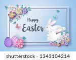 illustration of easter day with ... | Shutterstock .eps vector #1343104214