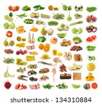collection of food | Shutterstock . vector #134310884