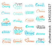 big set of hand lettering about ... | Shutterstock .eps vector #1343132327
