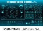 futuristic virtual graphic...   Shutterstock .eps vector #1343133761