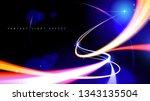 illustration of light speed... | Shutterstock .eps vector #1343135504