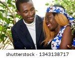 happy couple having a romantic... | Shutterstock . vector #1343138717