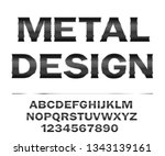 illustration metal alphabet....   Shutterstock . vector #1343139161