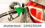 car refuel at the petrol... | Shutterstock . vector #1343150144