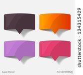 speech bubble  realistic design ... | Shutterstock .eps vector #134315429