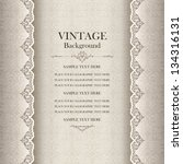 vintage background  antique... | Shutterstock .eps vector #134316131