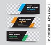 vector black banner templates... | Shutterstock .eps vector #1343166347