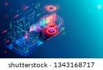 smart home isometric concept.... | Shutterstock .eps vector #1343168717