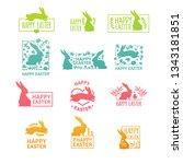 set of  logo for the spring... | Shutterstock .eps vector #1343181851