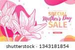 modern template design for mom... | Shutterstock .eps vector #1343181854