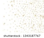 memphis style gold geometric... | Shutterstock .eps vector #1343187767