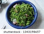 Stock photo herring baltic herring with chive 1343198657