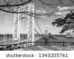 abstract industrial bridge in... | Shutterstock . vector #1343205761