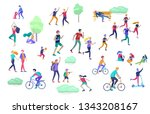 people spending time  relaxing... | Shutterstock .eps vector #1343208167
