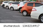 image of cars parking in... | Shutterstock . vector #1343214917