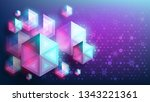 abstract vector geometric... | Shutterstock .eps vector #1343221361
