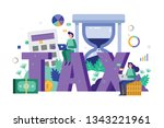 business team analysis and... | Shutterstock .eps vector #1343221961