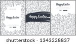 set of happy easter backgrounds ... | Shutterstock .eps vector #1343228837