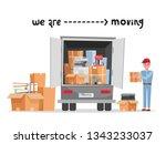 man worker in uniform with... | Shutterstock .eps vector #1343233037