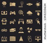 experience icons set. simple... | Shutterstock .eps vector #1343233634