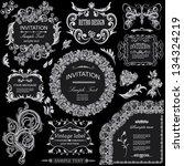 vector set  calligraphic design ...   Shutterstock .eps vector #134324219
