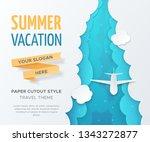 vector travel landscape with 3d ... | Shutterstock .eps vector #1343272877