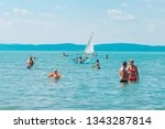 balaton  hungary   july 14 ... | Shutterstock . vector #1343287814