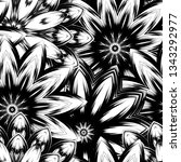 seamless floral background.... | Shutterstock .eps vector #1343292977