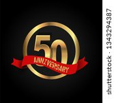 50 years anniversary simple... | Shutterstock .eps vector #1343294387