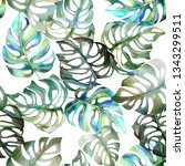 seamless watercolor pattern of... | Shutterstock . vector #1343299511