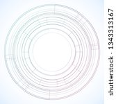 geometric frame from circles ... | Shutterstock .eps vector #1343313167