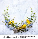 spring composition with braided ... | Shutterstock . vector #1343323757