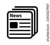 news icon. newspaper vector... | Shutterstock .eps vector #1343327987