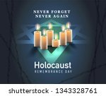 holocaust remembrance day ... | Shutterstock .eps vector #1343328761